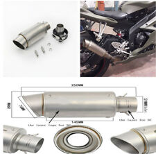 38-51mm Tail Pipe Tip Kit Vent Pipe For Motorcycle Street Bike Exhaust System