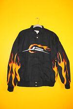 New Dale Earnhardt Jr NASCAR Jr Nation flame #88 cotton black jacket men's M