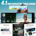 """Single Din Bluetooth Car Radio 4.1"""" Touch Screen Car Stereo FM/AM/RDS MP5 Player"""