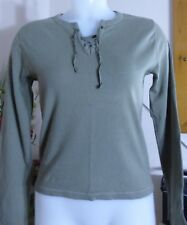 River Island - Khaki green - long sleeved t shirt - size 14 - fab condition