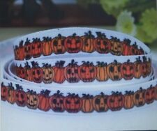 2 meters 9mm Pumpkin Halloween Grosgrain Ribbon