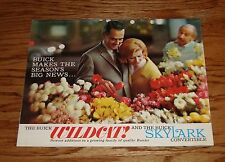 Original 1962 Buick Wildcat & Skylark Convertible Foldout Sales Brochure 62