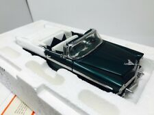 Franklin Mint 1956 Chevy Bel Air Convertible Green 1:24 Scale Diecast Model Car