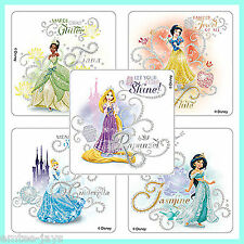 Princess & Tiaras Stickers x 5 - Birthday Party Favours - Bling - Girls Glitter