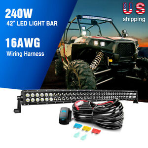 """NILIGHT 54"""" 50"""" 42"""" 32"""" Inch Curved LED Light Bar Off Road Black Driving Car 4WD"""
