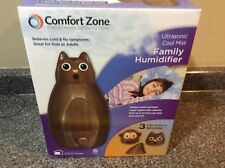 Comfort Zone Ultrasonic Cool Mist Family Humidifier, Brown Owl or Monkey