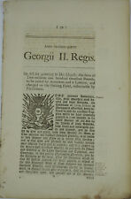 18th Century 1750 George II Act of Parliament Relating to Raising Money