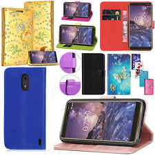 For NOKIA 1 - New 100% Genuine Leather Stand Flip Wallet Cover Phone Case