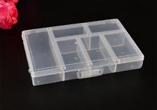 Household Transparent 6 Grid Plastic Family Storage Small Box Travel Portable