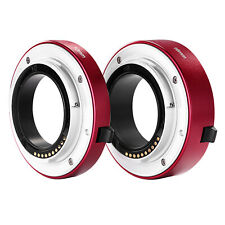 Neewer Red Macro Extension Tube Set 10mm 16mm for Sony E-mount Mirrorless Camera