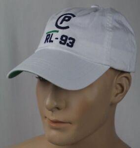 Polo Ralph Lauren White Regatta CP-93 Nautical Baseball Cap Sport Hat NWT