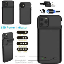 For iPhone X XR XS Max Battery Charging Case Cover Power Bank Lightning Cable