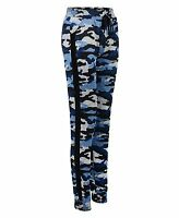 Ladies Camouflage Jogging Bottoms Cuffed Tracksuit Trousers Sweatpants Size S-XL