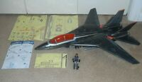 Lot 2015 GI Joe Skystriker Silent Strike Jet Ace v8 w/ Blueprints *Near Complete