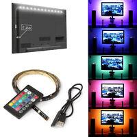 5V USB LED Strip Lights TV Back Light 5050 RGB Color Changing + Remote Control