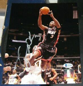 Dwyane Wade Miami Heat SIGNED AUTOGRAPHED ROOKIE Photo File 8x10 BAS Basketball