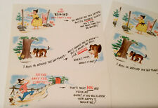 """Vintage Writing Paper Deep In The Hills """"Stationary For Humorous People"""""""