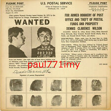 ORIGINAL USPS WANTED POSTER DENNIS CLARENCE WILSON '74 SHOTGUN WOUNDS - ROBBERY