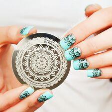 Nail Art Schablone Plates Stamping Nagel Tattoo Stamp Stempel DIY #Qgirl-030