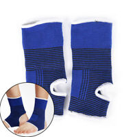 2x Ankle Foot Elastic Compression Wrap Sleeve Bandage Brace Support ProtectionTc
