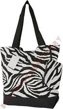 Tote Bag Purse Shopper Zebra Stripe Black