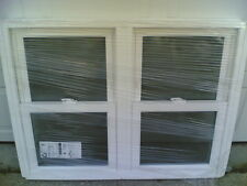 DISPLAY UNIT: Nice White VINYL Home DOUBLE DOUBLE-HUNG WINDOW 44x34
