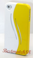 for iPhone 4 4s pink black yellow white case cover heart opening ///\\