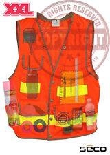 SECO 8069-58 XXL SURVEYORS SAFEY VEST, CLASS 2,SURVEYING,TOPCON,SOKKIA,TRIMBLE