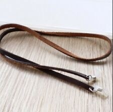 Real genuine leather Reading Chain Holder Eyeglass Spectacles Glasses Cord 66cm