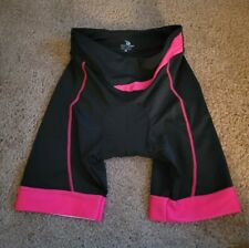 Nwt Beroy Womens Black and Pink Athletic Cycling Padded Bike Shorts Size M