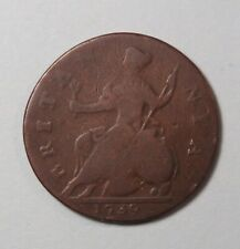1739 Great Britain 1/2 Half Penny Copper World Coin UK GB England King George II