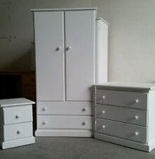 HANDMADE (WHITE) CHILDREN'S BEDROOM SET (ASSEMBLED) NOT FLAT-PACK!!!