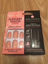 Elegant Touch - Nail Saviour - GLOWING APRICOT -  False Nails   BNIB