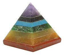 Pyramide de  reiki chakra 7 générateur d'énergie spirituelle pierres de guérison