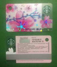 CS1718 2017 China Starbucks coffee sakura gift mini card¥100 1pc