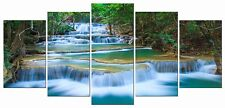 [Framed] Peaceful Waterfall Nature Canvas Art Picture Prints Wall Home Decor New