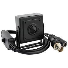 HD 700TVL Mini Covert CCTV Video Camera Hidden Pinhole Secret 3.7mm Lens