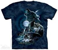 Wolf Wolves Bark At The Full Moon The Mountain T-Shirt (2275) All Sizes