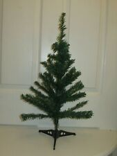 Small green table top artificial Christmas tree, 60cm high