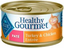 Blue Healthy Gourmet Pate` Turkey & Chicken Entrée Pack of 4 (3oz) Cans