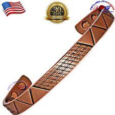 100% Copper Magnetic Bracelet/ Cuff/Bangle Geometrical Arthritis Size-M Y17C