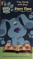 Blue's Clues Story Time (VHS, 1998) Nickelodeon Nick Jr. Orange Tape RARE