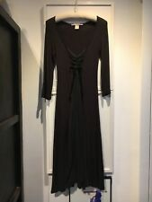 Nolita DeNimes, Italy Modal/Silk Long Midi Dress, Stretch, It 42, Dark Chocolate