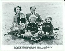 1980 Queen Beatrix with Royal Family Original News Service Photo