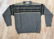 Vintage Woolrich Nordic Wool Blend Crewneck Sweater Ski Outdoors Men's XL