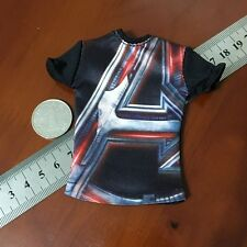 """[ NEW ]1/6th Scale Tee Black Short Sleeves T-Shirt For 12"""" Male Action Figure"""