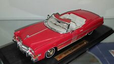 1/18 ANSON 1973 CADILLAC ELDORADO CONVERTIBLE RED with WHITE INTERIOR rd