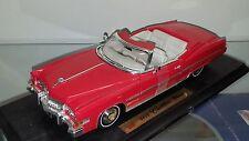 1/18 ANSON 1973 CADILLAC ELDORADO CONVERTIBLE RED with WHITE INTERIOR rd