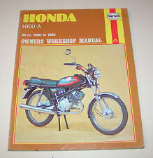Honda H 100 A Owners Workshop Manual - 1980 to 1982!