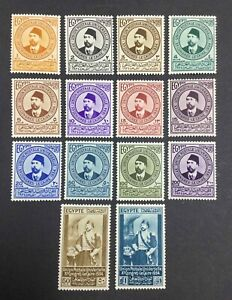 MOMEN: EGYPT SC #177-190 1934 MINT OG LH LOT #63497